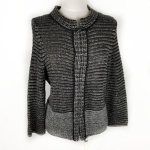 LOFT Size Large Clasp Front Cardigan Knit Sweater